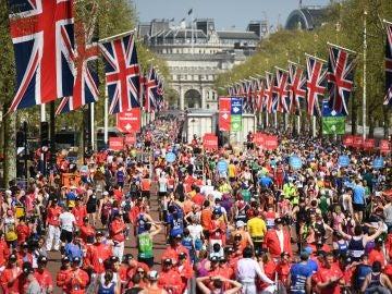 Imagen del Maratón de Londres de 2018