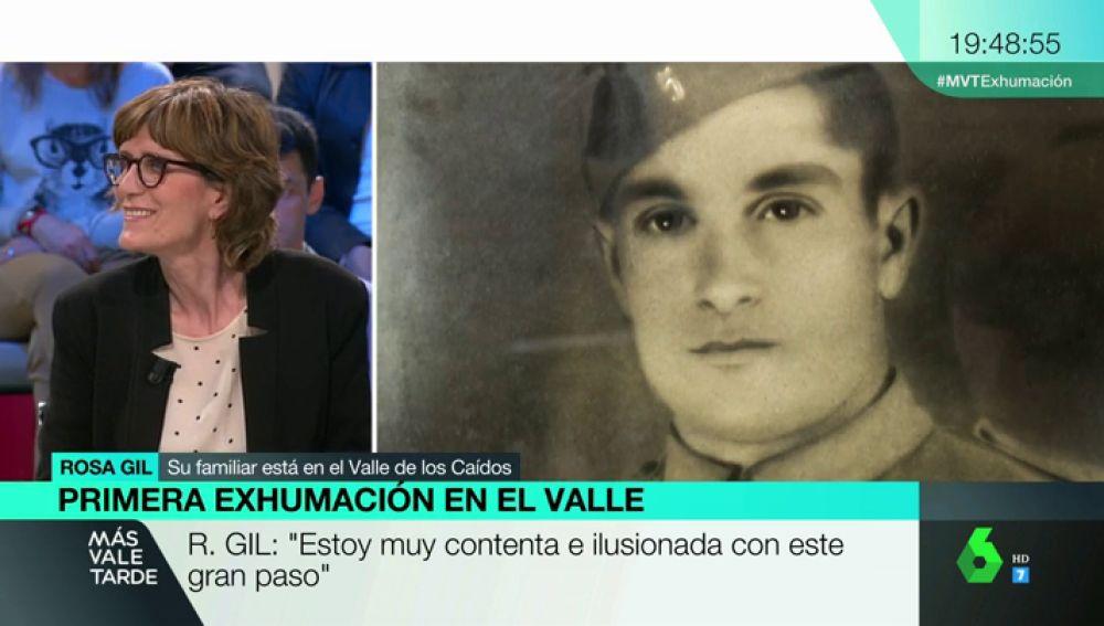 Rosa Gil, los restos de su abuelo fueron trasladados al Valle de los Caídos