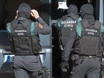 Foto de archivo de agentes de la Guardia Civil