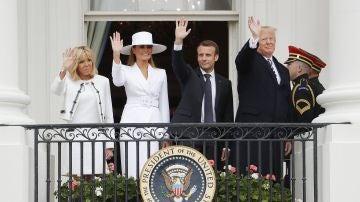 Los Macron visitan la Casa Blanca