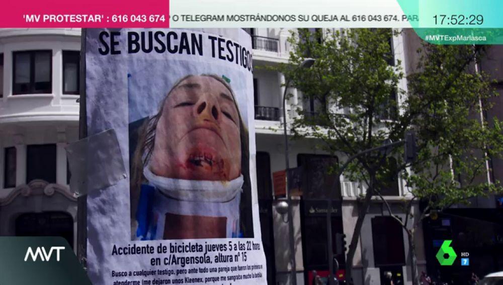 Empapela el barrio de Chueca con su foto herida