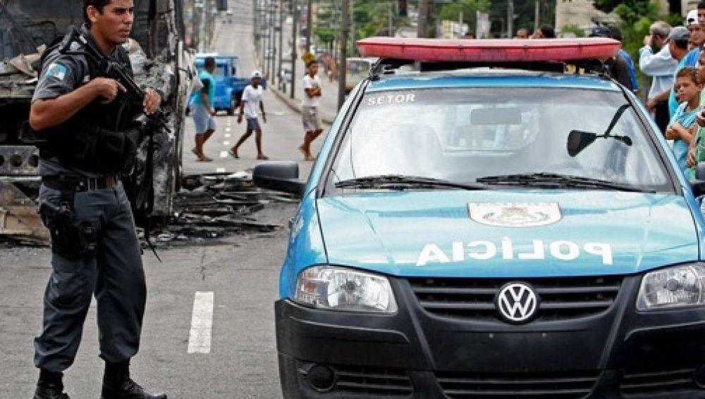 Imagen de archivo de un agente de Policía en Brasil