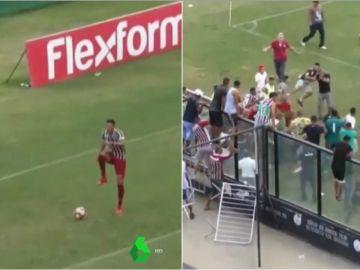 El 'baile' de la provocación del delantero del Fluminense