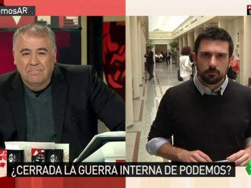 Ramón Espinar, secretario general de Podemos Madrid y portavoz en el Senado
