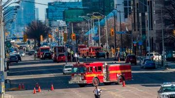 Imagen del lugar del atropello múltiple en Toronto