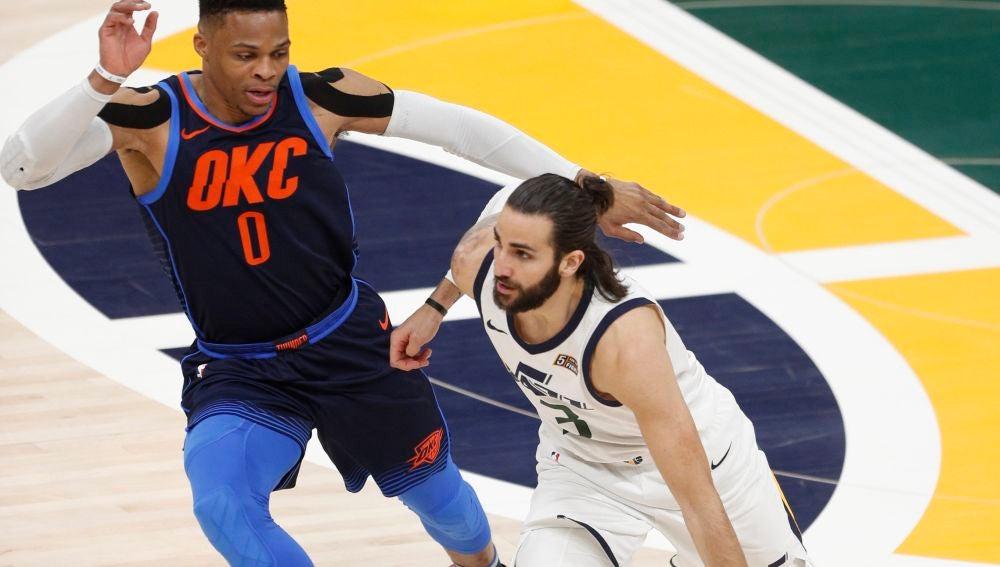 Ricky Rubio, ante Westbrook