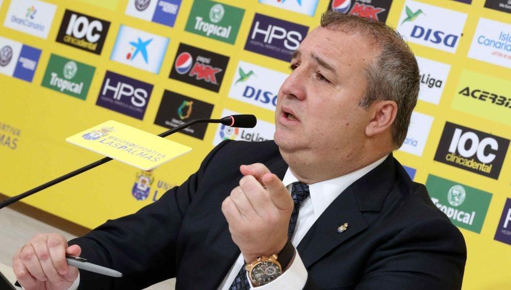 Miguel Ángel Ramírez, presidente de la UD Las Palmas