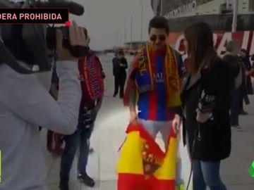 BARÇA TV 'VETA' UNA BANDERA DE ESPAÑA