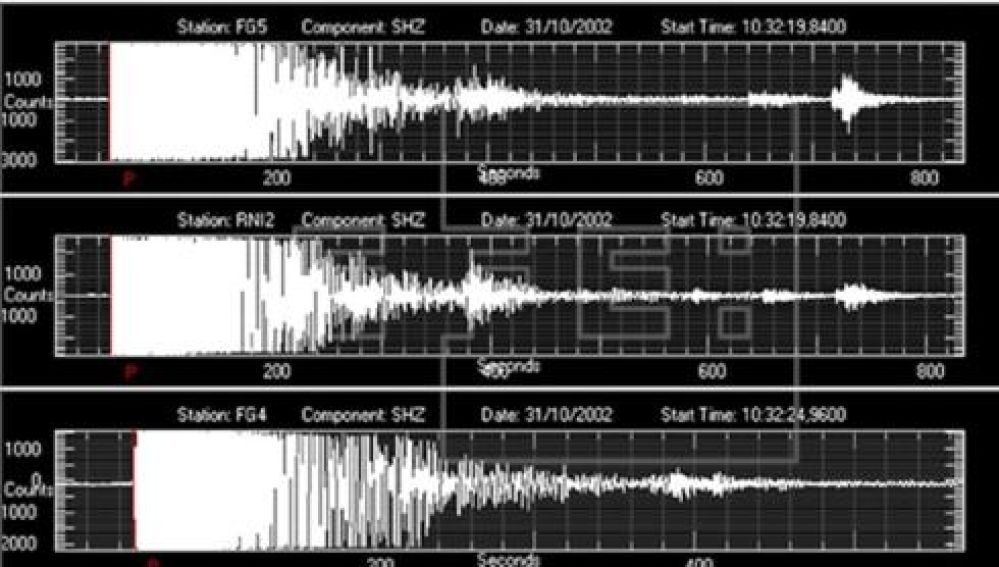 The digital recordings of the earthquakes which hit the Italian central-southern region Molise