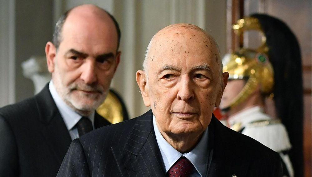 El exjefe de Estado italiano, Giorgio Napolitano