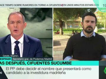 Ramón Espinar, secretario general de Podemos Madrid