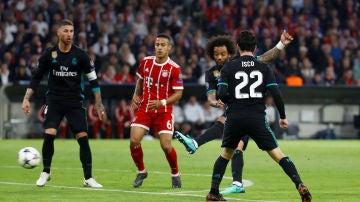 El disparo de Marcelo para empatar el partido