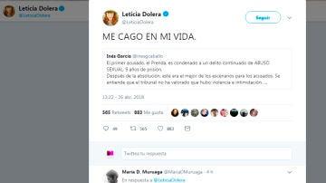 Leticia Dolera tras conocer la sentencia a 'La Manada'