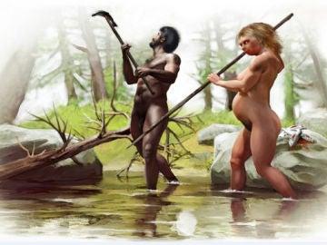 Pareja neandertal