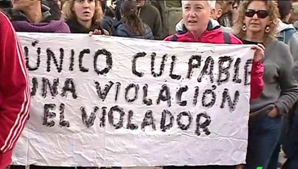 Imagen de archivo de una manifestación en apoyo a la denunciante de 'La Manada'
