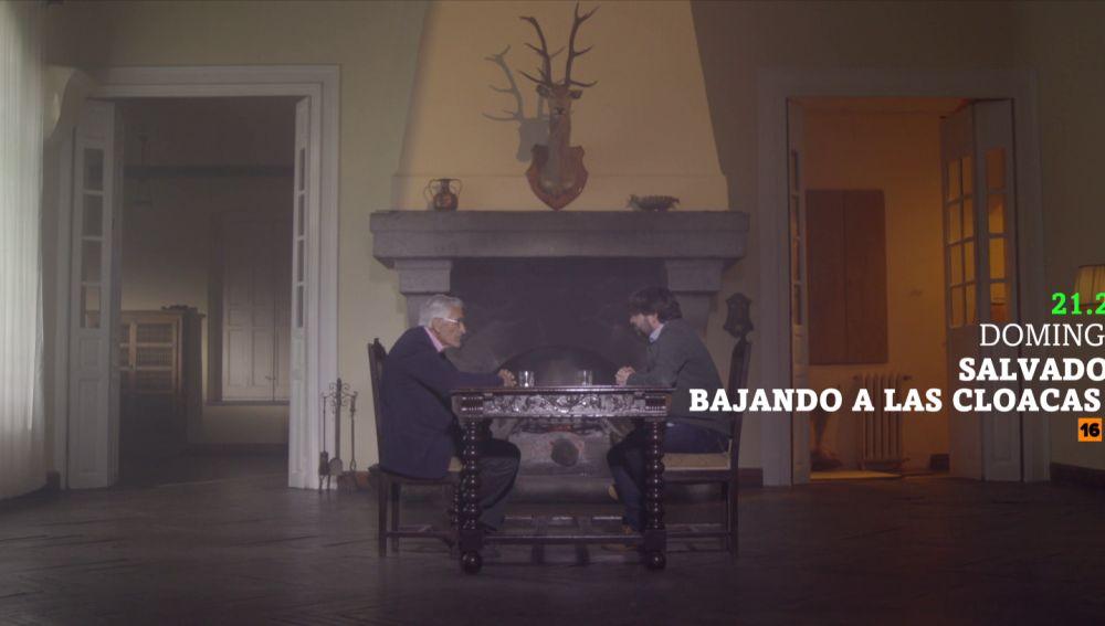 Rafael Vera, con Jordi Évole en Salvados