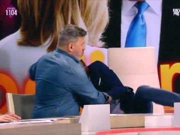 """La """"desagradable"""" caída de Frank Blanco con """"todo el culo en pompa"""""""
