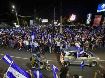 Imagen de protestas en Nicaragua