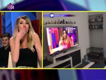 La reacción de Anna Simon tras recibir un vídeo de un perro ladrando a Puchi