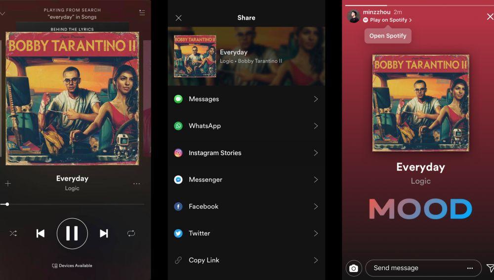 Así puedes compartir tu música de Spotify en las Stories de Instagram