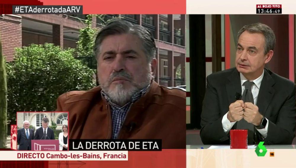 """Zapatero: """"Eguiguren es uno de los grandes héroes del país contra ETA, como lo son los guardias civiles"""""""