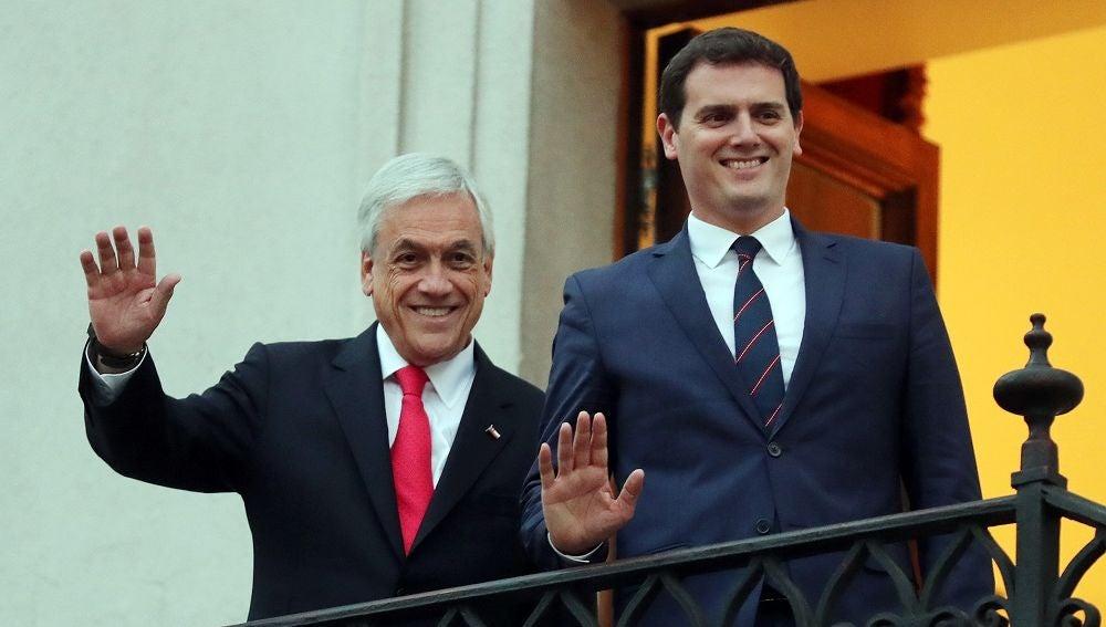 Albert Rivera junto al presidente de Chile, Sebastián Piñera