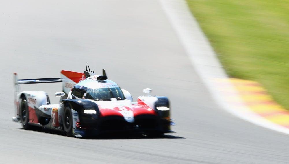 Fernando Alonso, durante la clasificación de las 6 Horas de Spa