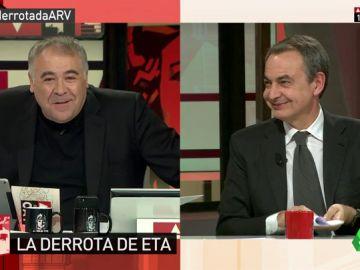 Zapatero desvela que en año 2000 confesó a Ferreras que su objetivo como presidente era poner fin a ETA