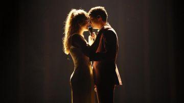 Amaia y Alfred durante el primer ensayo de 'Tu canción' en Eurovisión