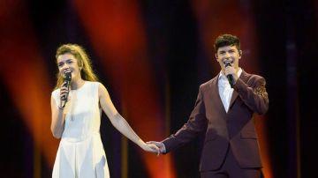 """Alfred y Amaia, """"supercómodos"""" en su primer ensayo en Eurovisión"""