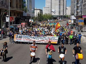Manifestación de policias y guardias civiles en Madrid