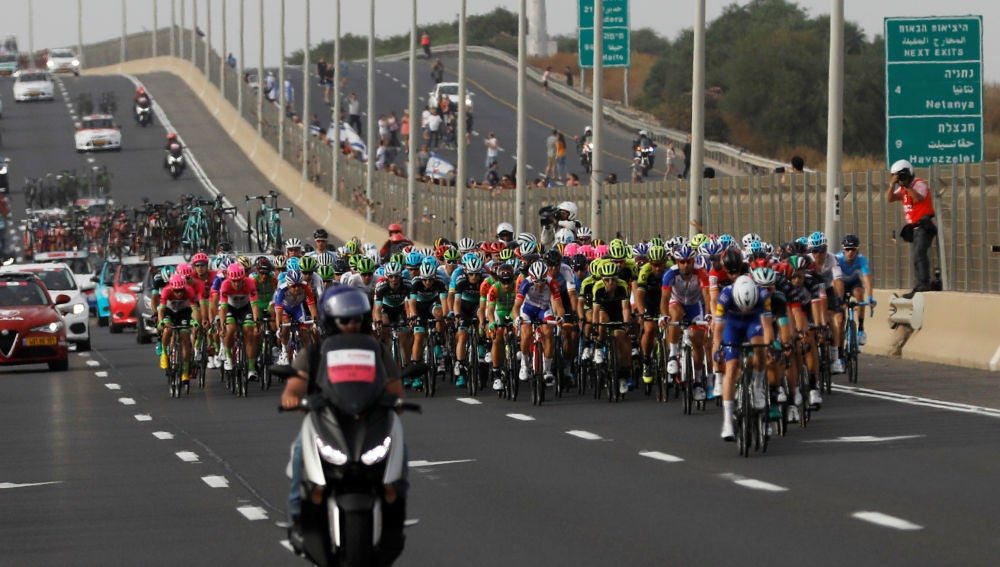 El pelotón en el Giro de Italia