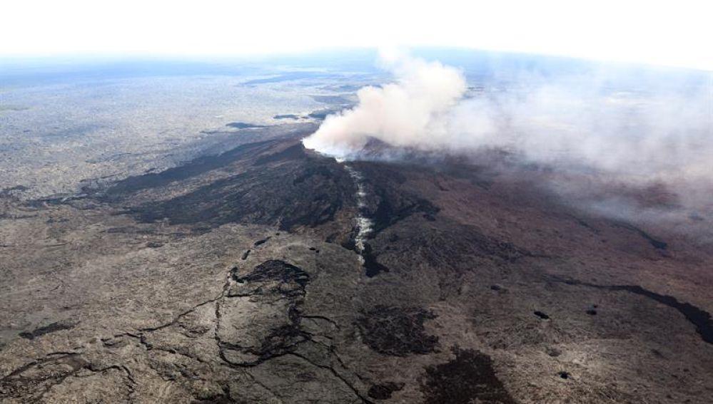 El volcán Kilauea cerca de Pahoa, Hawai