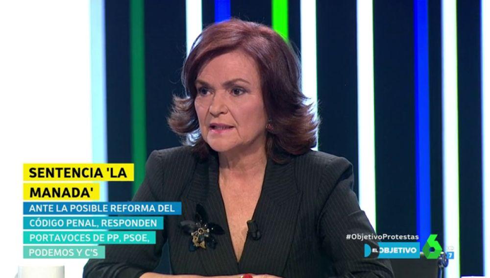 Carmen Calvo en El Objetivo