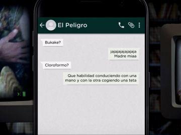 Los whatsapps en el chat de 'El Peligro'