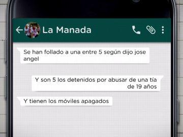 Whatsapp de La Manada