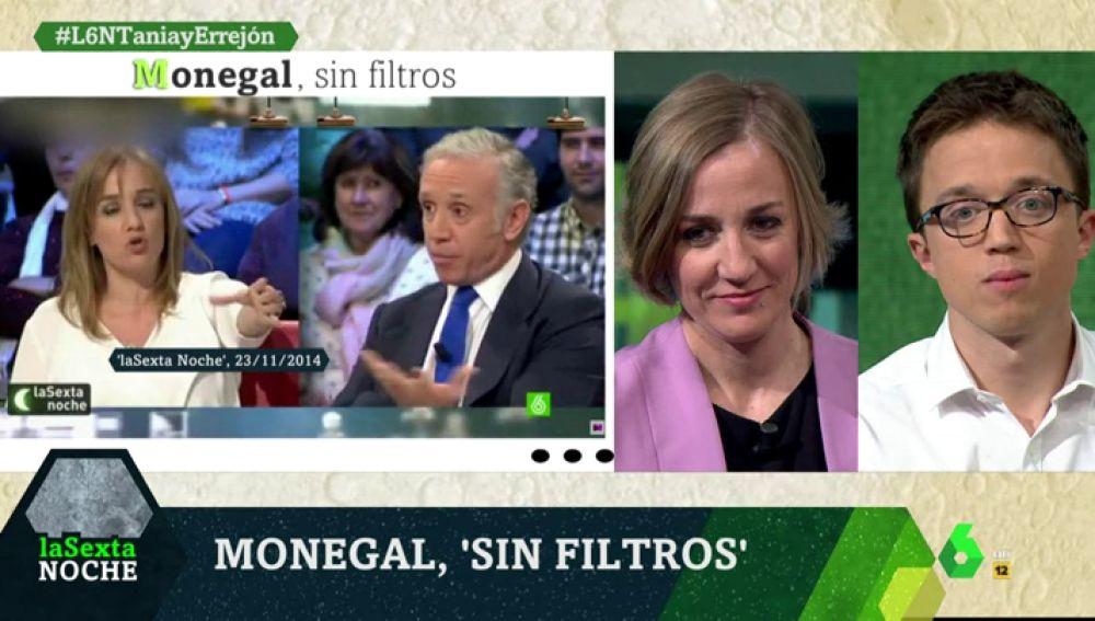 Tania Sánchez y Errejón en laSexta Noche
