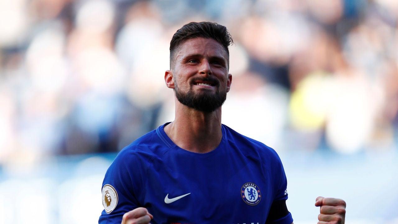 Giroud celebrando un gol