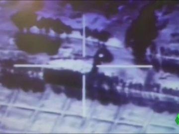 Ataque aéreo contra ISIS en la frontera de Siria con Irak