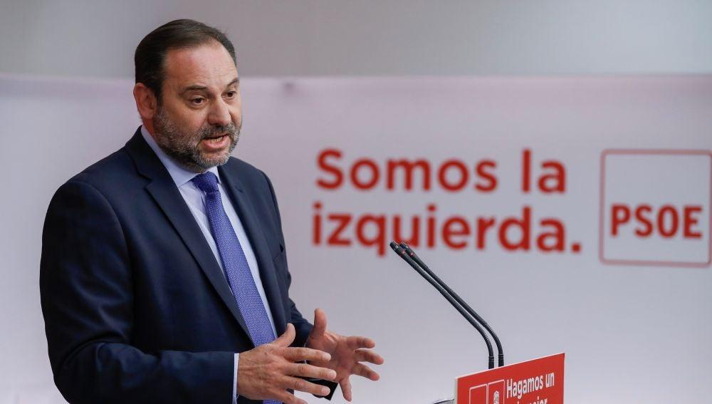 El secretario de Organización del PSOE, José Luis Ábalos