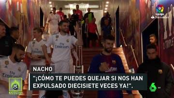 Nacho y Piqué, bronca en el túnel de vestuarios