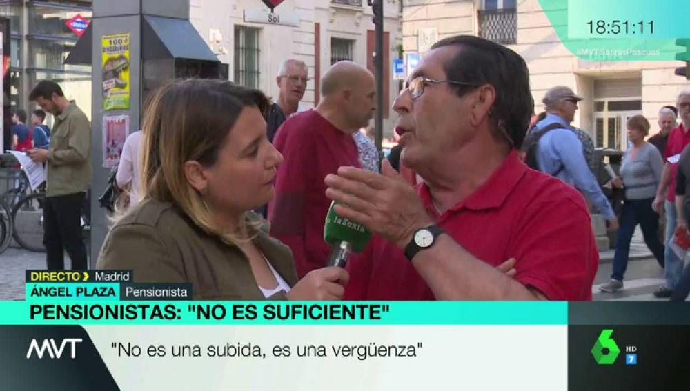 Ángel Plaza, pensionista