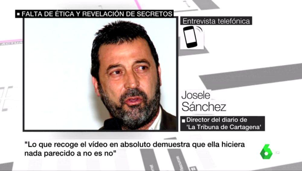 El director de 'La Tribuna de Cartagena' no descarta publicar el vídeo íntegro de 'La Manada' con la víctima de San Fermín