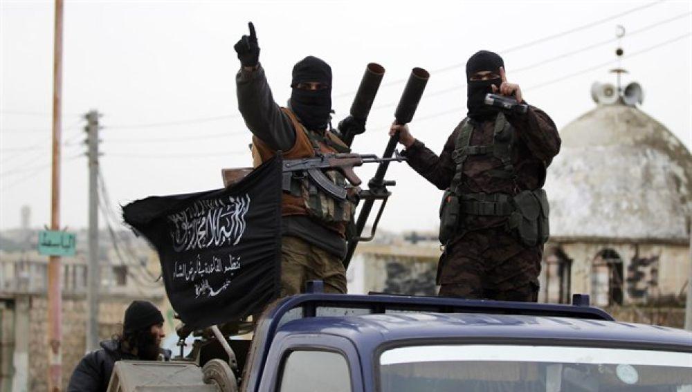 Miembros de la organización terrorista Al Nusra en Siria