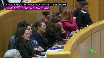 Huérfanos por la violencia machista en el Senado