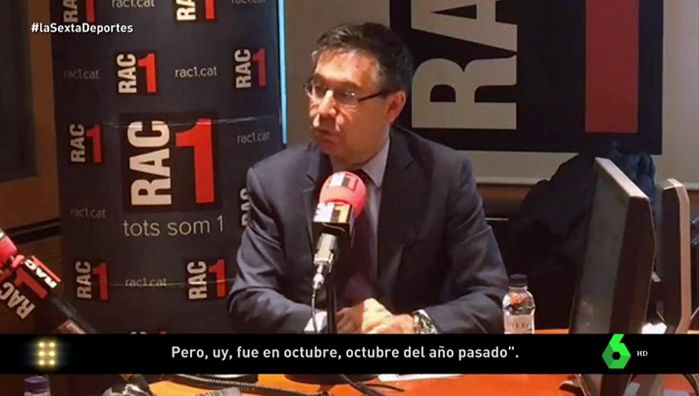 """Bartomeu reconoce contactos con el entorno de Griezmann: """"En octubre nos vimos con su representante"""""""