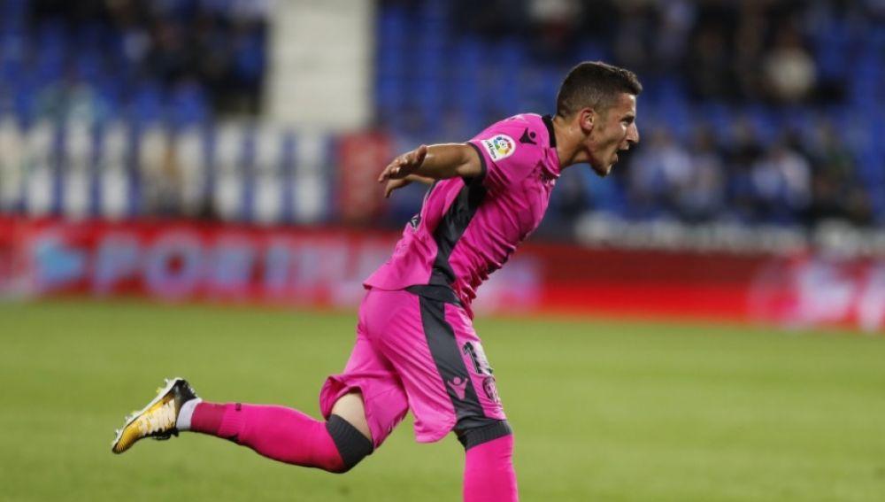 Bardhi celebra su gol ante el Leganés