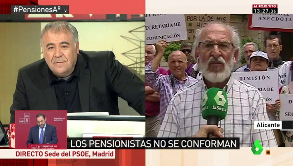 José Barrajón, de la plataforma defensa pensiones públicas l'Alacantí