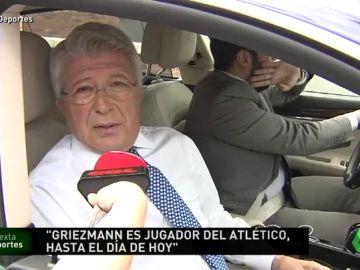 """Cerezo: """"Que yo sepa, hasta el día de hoy, Griezmann es jugador del Atlético de Madrid"""""""