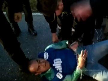 Protestas de varios funcionarios de prisiones en Huelva